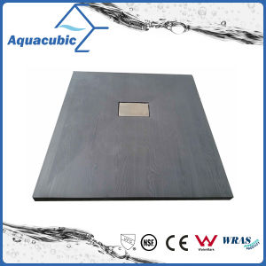 Sanitary Ware 1000*700 High Quality Wood Surface SMC Shower Base (ASMC1070W) pictures & photos