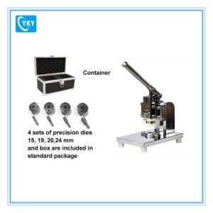 Compact Coin Cell Precision Disc Cutter with 4 Sets of Cutting Die pictures & photos