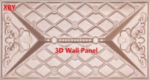 3D Wall Panel PU Leather Panel 400*400 Wall Panel pictures & photos