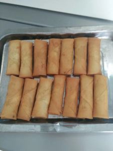 Tsing Tao Flat Rectangle Frozen Vegetable 17g/Piece Egg Rolls with HACCP Certification pictures & photos