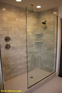 8mm, 10mm, 12mm Clear Tempered Bathroom Shower Safety Glass Door pictures & photos