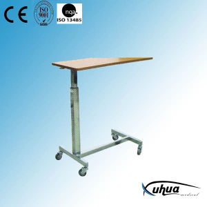 Hospital Furniture, Height Adjustable Hospital Overbed Table (L-4) pictures & photos