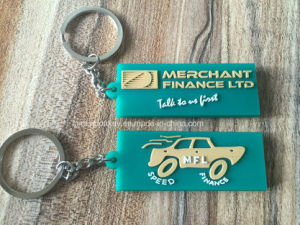 Wholesale 2D Custom Shaped Soft Rubber PVC Keychain with Your Logo pictures & photos
