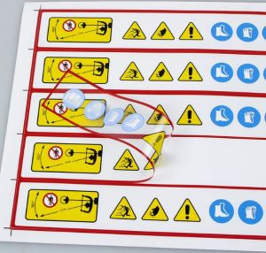 Custom Printing Warning Sticker Labels pictures & photos