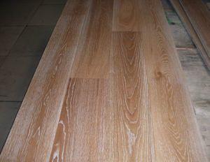 1900X190X15 (4mm) Brushed White Grain UV Lacquereed Oak Engineered Wood Flooring (JS-OAK 190MM)