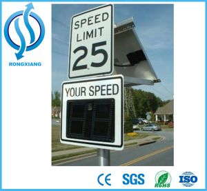 Custom Solar Radar Speed Limit Sign/Waterprood Speed Limit Sign Can Store Data pictures & photos