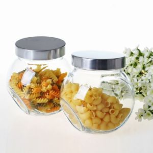 50ml/200ml/400ml/700ml Flat Drum Glass Candy Jar Storage Jar