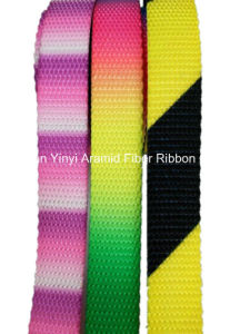 18mm Coloured Plain Webbing for Pet Safety Traction Belt pictures & photos
