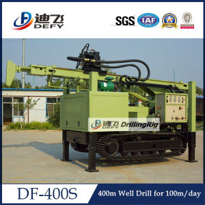 Water Well Drilling Rig Machine for 400m Depth with Air Compressor pictures & photos