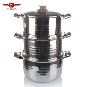 3PCS Stainless Steel Cooking Pot pictures & photos