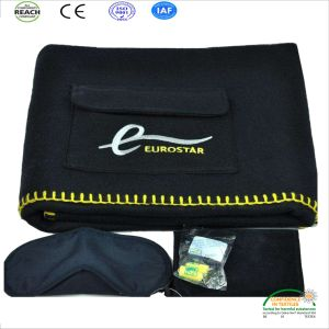 Dark Color Plaine Dyed Flame Retardant Airline Blanket Factory pictures & photos