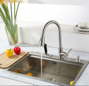 Brushed Nickel PVD Pull out Kitchen Tap pictures & photos