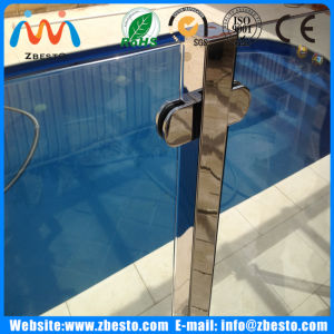 Frameless Outdoor Tempered Glass Pool Barrier Fencing Supplier with 2205 Spigots pictures & photos