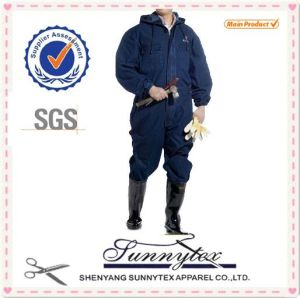 Long Sleeves Navy Polyester Coverall pictures & photos