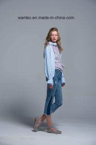 Ladies Blouse 100% Cotton Irregular Fashion Shirt Fashion Top Spring Autumn pictures & photos