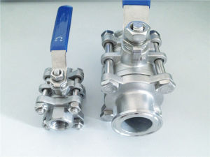 Sanitary Stainless Steel 3PC Clamped Ball Valve pictures & photos