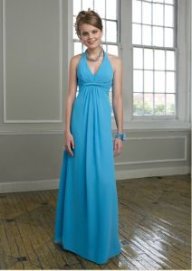 Turquoise Fashion Halter Chiffon Bridesmaid Gowns (BD3017) pictures & photos