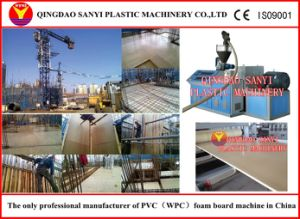 PVC/WPC Building Template Machinery/Plastic Extruder pictures & photos