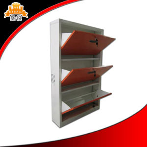Most Popular Products China Factory Direct Price 3 Tiers Metal Shoe Cabinet pictures & photos