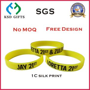 Football Design Ink Printed Promotion Bracelet (KSD-869) pictures & photos