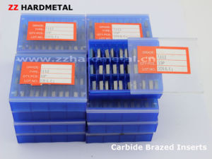 Tungsten Cemented Carbide Brazed Turning Inserts for Cutting Tool pictures & photos