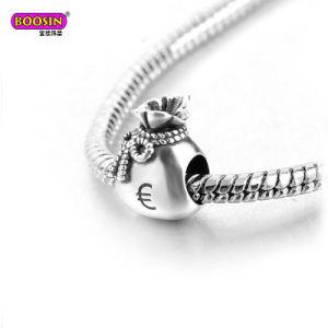 Custom Metal Jewelry Logo Money Bag Bead Charm pictures & photos