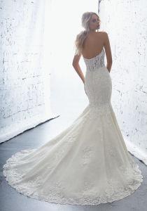 off Shoulder Bridal Dresses Mermaid Lace Appliqued Wedding Gown 2018 Lb1707 pictures & photos