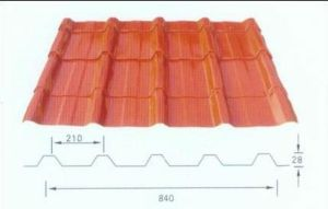 Fireproof Orange Corrugated Roofing Sheet for Building Materials pictures & photos