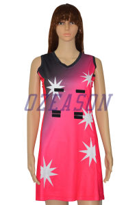 Custom Sublimation Sexy Women Team Netball Dresses Uniforms Skirts (N009) pictures & photos