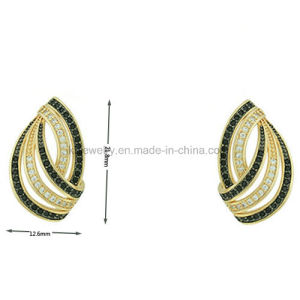 Fine Jewelry Colorful Plating Pave Ear Stud (KE3142) pictures & photos