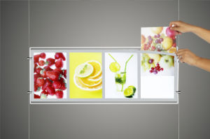 Double-Sides LED Acrylic Menu Board Light Box for Advertising (CDH03-A3X2) pictures & photos