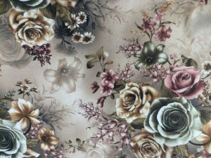 100% Polyester Cut Printed Velvet Upholstery Fabric pictures & photos