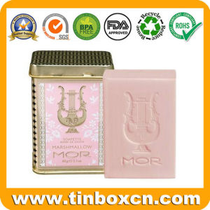 3.5oz/100g Luxury Metal Soap Tin with Square Shape for Cosmetics pictures & photos