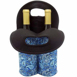 Insulated Neoprene 2 Bottle Wine Tote Carry Drink Holder Cooler Bag pictures & photos