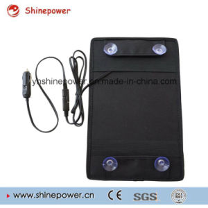 10 Watts Portable Solar Panel Battery Charger for Car Boat with Alligator Clip Adapter pictures & photos