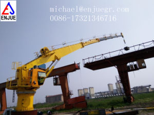 Hydraulic Telescopic Knuckle Boom Marine Crane pictures & photos