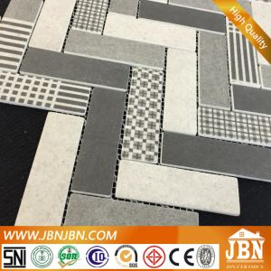 Recycle! North American Wooden Look Mesh-Mounted Glass Mosaic Tile (V639004) pictures & photos