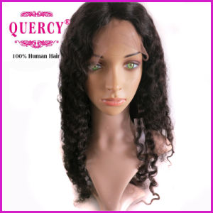 100% Human Virgin Middle Hair Length Deep Wave Front Lace Wig pictures & photos