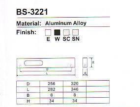 BS-3221 Aluminium Cabinet Handle Series pictures & photos