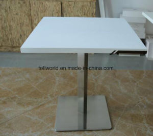 Modern Square Solid Surface Marble Top Corian Restaurant Dining Table and Chairs Set Design Manufacturer pictures & photos