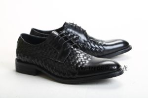 Direct Manufacturer European Trendy Printed Leather Mens Elevator Official Shoes pictures & photos