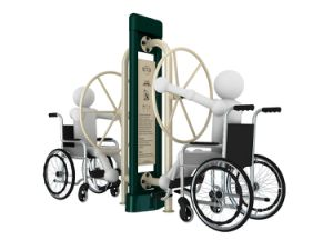 Gym Park Amusement Disabled Building Outdoor Fitness Equipment for Handicaped pictures & photos