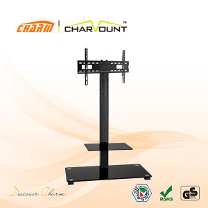 Classial 2 Tiers Tempered Glass TV Stand Cheap TV Stands Sales (CT-FTVS-F202B) pictures & photos