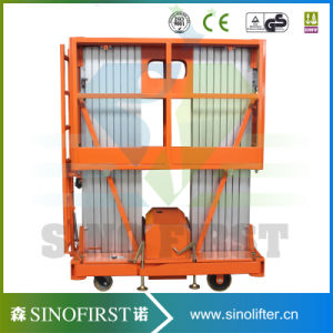 6m to 14m Aerial Dual Mast Aluminum Lift Platform Cargo Table Lift pictures & photos