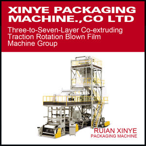 Three-to-Seven-Layer Co-Extruding Traction Rotation Blown Film Machine Group pictures & photos