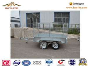 Hot DIP Galvanized Wire Mesh Cage Trailer for Sale pictures & photos