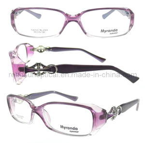 Beautiful Metal Temples Frame, Plastic Optical Frame Glasses (OCP310069) pictures & photos