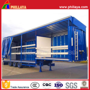 3 Axles Stepwise Semi Curtain Side Trailer for Bulk Cargo Transport pictures & photos
