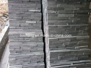 Black Grey Slate for Culture Stone Stripes pictures & photos