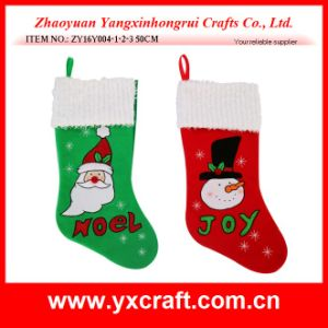 Christmas Decoration (ZY16Y004-1-2-3 50CM) Embroidered Red Green Christmas pictures & photos